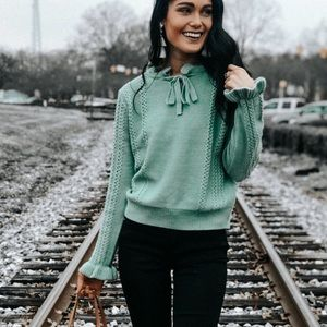 Boutique knitted tie sweater